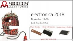 MICROHM will Take Part in  Electronica 2018 in Munich, Germany